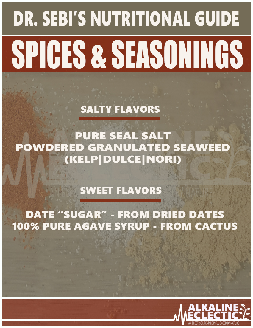NUTRITIONAL GUIDE SPICES MAIN B